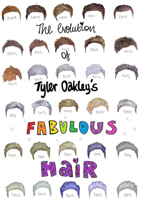 the evolution of Tyler Oakleys fabulous hair
