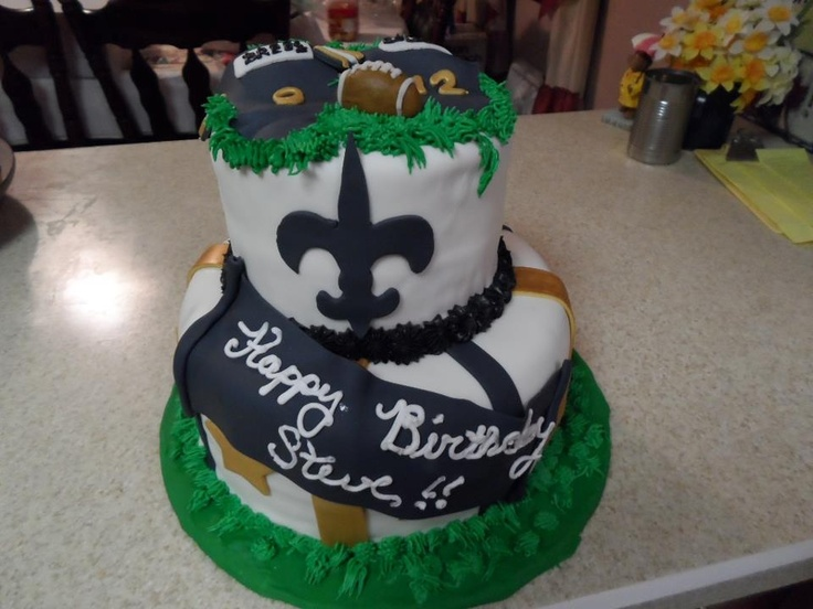 New Orleans Saints Birthday Cake Who Dat Nation Pinterest