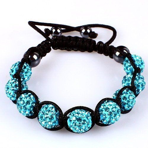 10mm Sky Blue Crystals Macrame 9pcs Beaded Shamballa Ball Adjustable Bracelet Shamballa. $10.38. Adjustable. Macrame Bracelet. Sky Blue Crystal. Save 48% Off!