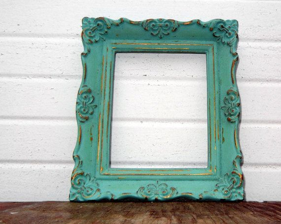 antique mint 4 x 5 frame sweet little vintage ornate aqua mint frame by thedustynook on etsy - Mint Picture Frames