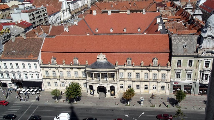 Palatul Banffy, vazut din turnul Bisericii Sf. Mihail