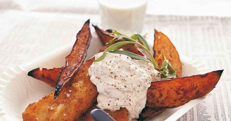 Recept på jättegod kall sås till stekt eller grillad färsk fisk. Ansjovis, schalottenlök, vitlök och dragon ger fyllig och aromrik smak.