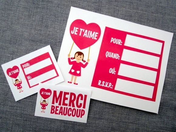 62 best images about French La SaintValentin – French Valentines Cards