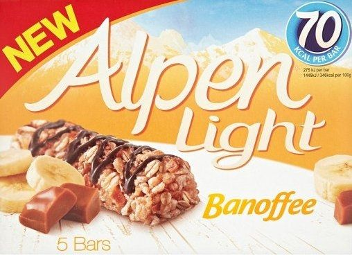Alpen Light Bars    Banoffee flavour    5pk    BB 5th September 2017 | Shop this product here: http://spreesy.com/DiscountFoodsofLincoln/206 | Shop all of our products at http://spreesy.com/DiscountFoodsofLincoln    | Pinterest selling powered by Spreesy.com