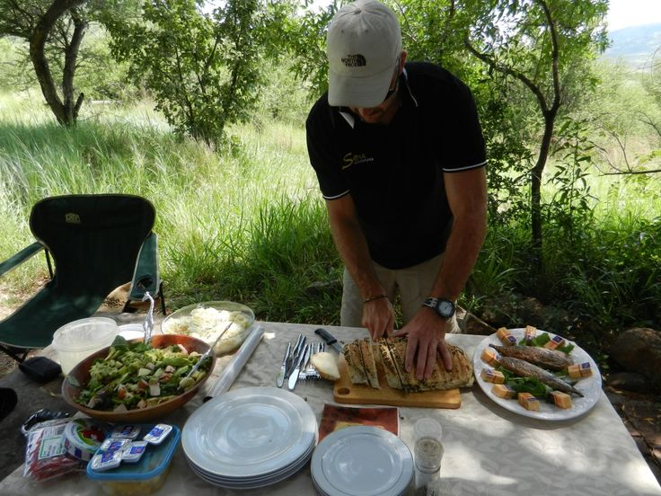 Lunch in the Pilanesberg. this is how we do it in Africa. Awesome natural homemade food in the African bush.