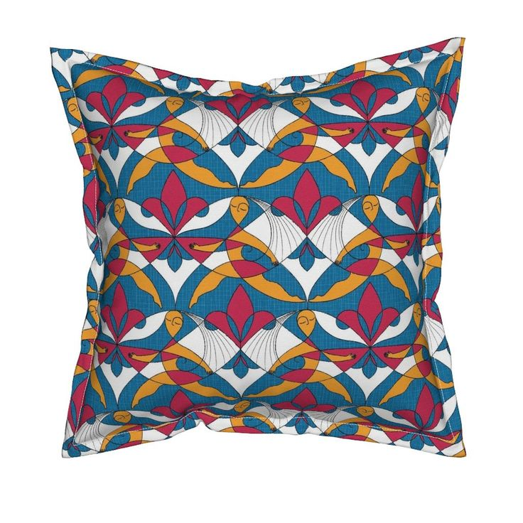 Interwoven XX_Raspberry on Serama by mia_valdez | Roostery Home Decor #Pattern #Woman #Girls #Cubism #Curvism #Ladies #March #Women-day #girly #Sisterhood #Lis #Flower #ChromosomesXX #Blue #Raspberry #Mia #Roosteryhome #Throw Pillow @Roosteryhome