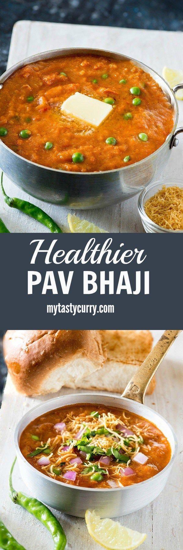 healthy pav bhaji recipe, In this recipe This Mumbai Street food classic is made healthier way