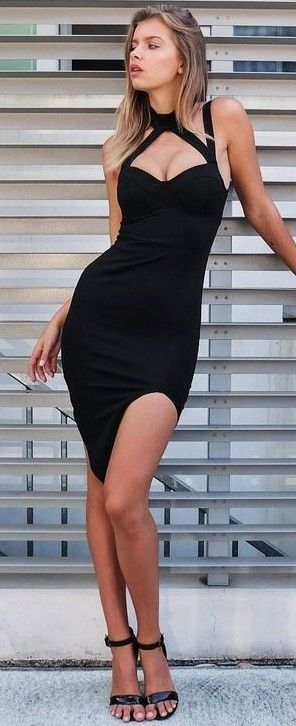 Little Black Dress @roressclothes closet ideas #women fashion outfit #clothing style apparel
