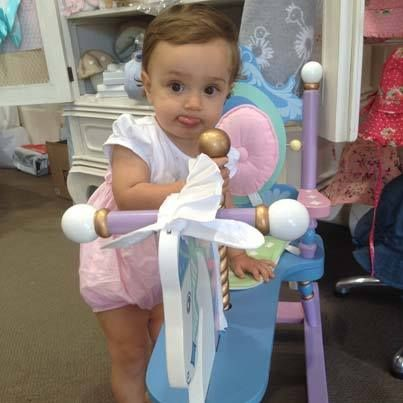Little Cutie Lucia having fun in store at Bon Bon Tresor