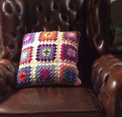 Granny Square Cushion Cover