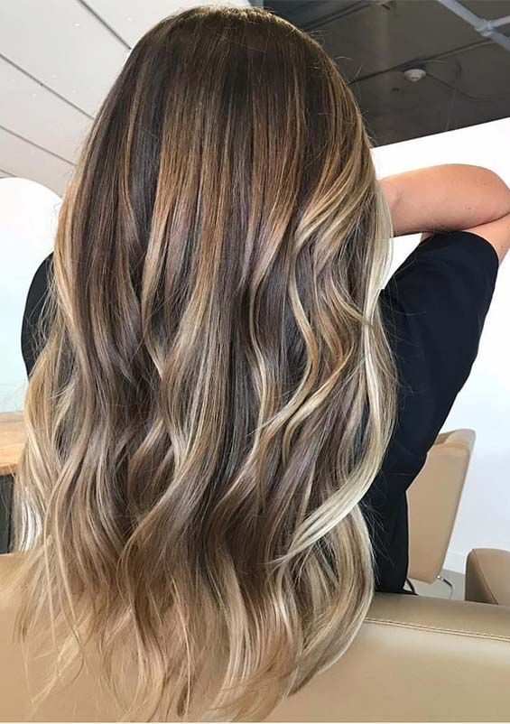 30 Modern Balayage Ombre Hair Color Highlights You Must Wear Absurd Styles Hair Styles Hair Color 2018 Long Hair Models