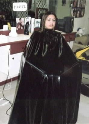 Shampoo cape fetish — photo 6