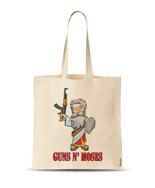 FREE SHIPPING Funny grocery bag Guns N' Moses funny by store365