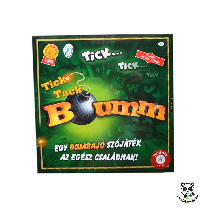 Tick Tack Bumm bombajó szójáték fejlesztő és szórakoztató társasjáték