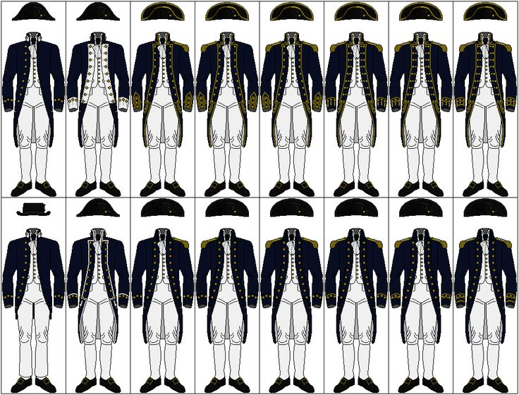 Uniforms of the Royal Navy, 1795-1812 by CdreJohnPaulJones.deviantart.com on @deviantART