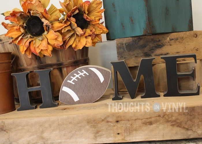Interchangeable Home Letters {football}