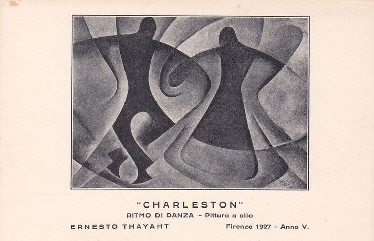 Old postcard, Ernesto Thayaht, Futurism - Charleston 1927 #millecartoline