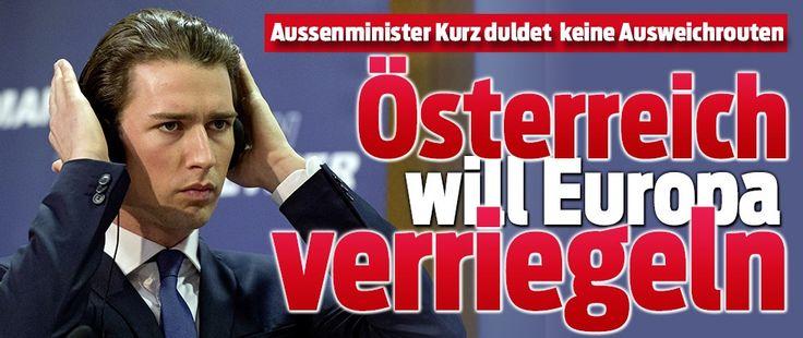 Österreichs Aussenminister Sebastian Kurz (29) ist inzwischen einer der schärfsten Kritiker von Merkels Flüchtlingspolitik. * Wir mussten aufhören, jeden Flüchtling, der in Griechenland ankommt, staatlich organisiert nach Mitteleuropa zu transportieren. Damit haben wir zwar den Wünschen der Flüchtlinge entsprochen, was menschlich nachvollziehbar war. Wir haben aber auch dafür gesorgt, dass sich immer mehr Flüchtlinge auf den Weg gemacht haben * 13-Maerz-2016