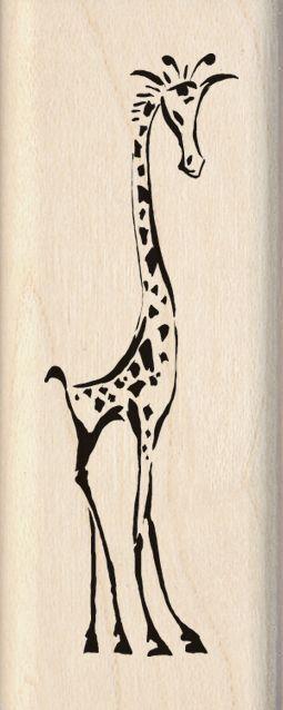 Inkadinkado Wood Mounted Rubber Stamp MM-Jazzy Style Giraffe