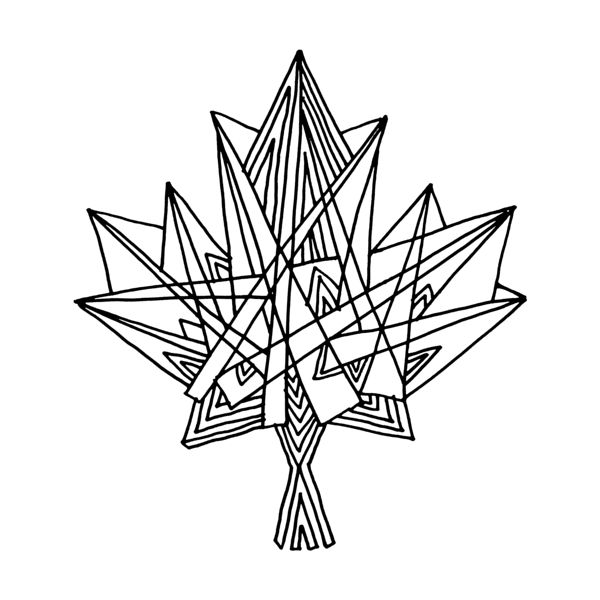 Download Colouring Page Image File    Abstract Line Drawing / Page 5831 / The 10,000 Page Colouring Book / Canadian Maple Leaf / Cele...