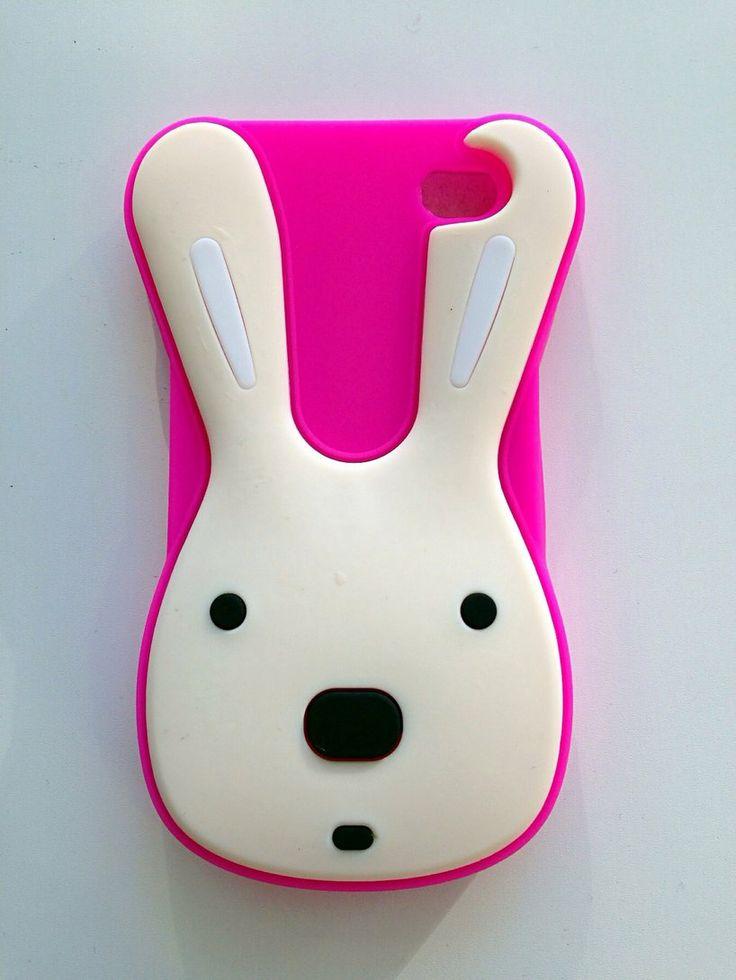 Carcasa silicona Conejo rosa Iphone 5G/5S/5C a 5,95€ Envíos incluidos www.mcase.es