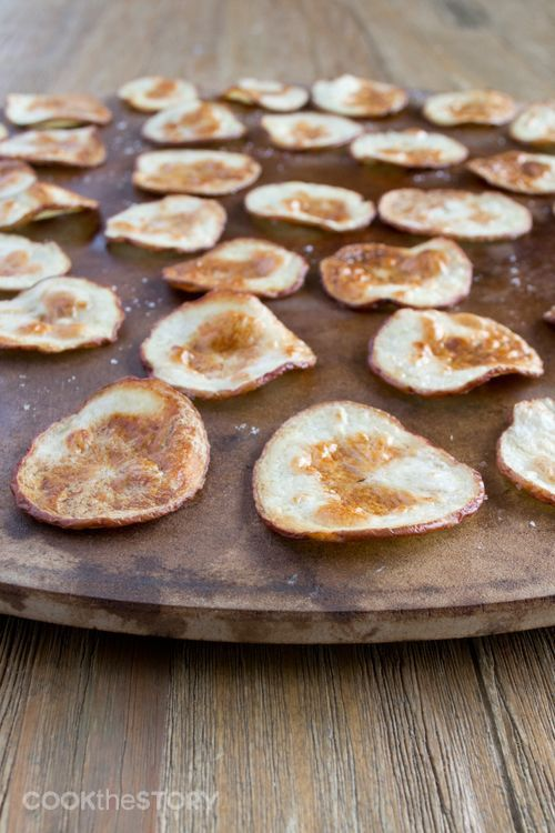 Oven baked potato chips - no more greasy fingers!