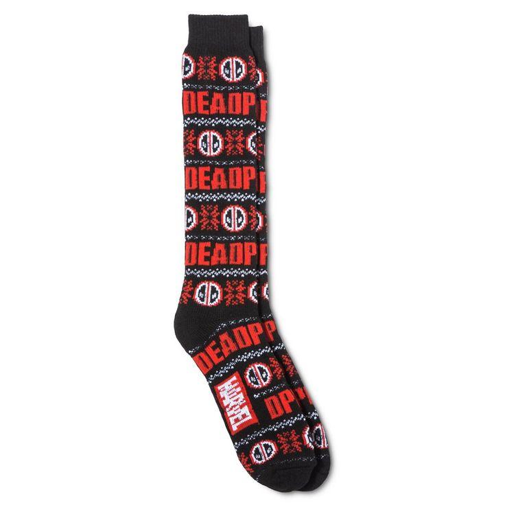 Deadpool Sweater Socks 10 - 13, Size: 10-13, Black