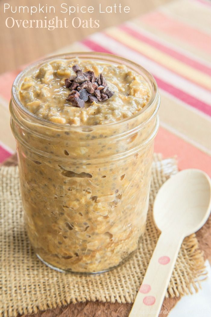 Pumpkin Spice Latte Overnight Oats - forget Starbucks and satisfy your PSL craving with a healthy breakfast recipe. | cupcakesandkalechips.com | gluten free: