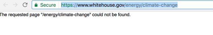 All References to 'Climate Change' Deleted From White House Website at Noon Today | Climate Depot