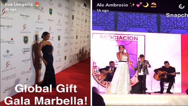 Eva Longoria and Alessandra Ambrosio attend fancy Global Gift Gala for disabled children, held in Marbella