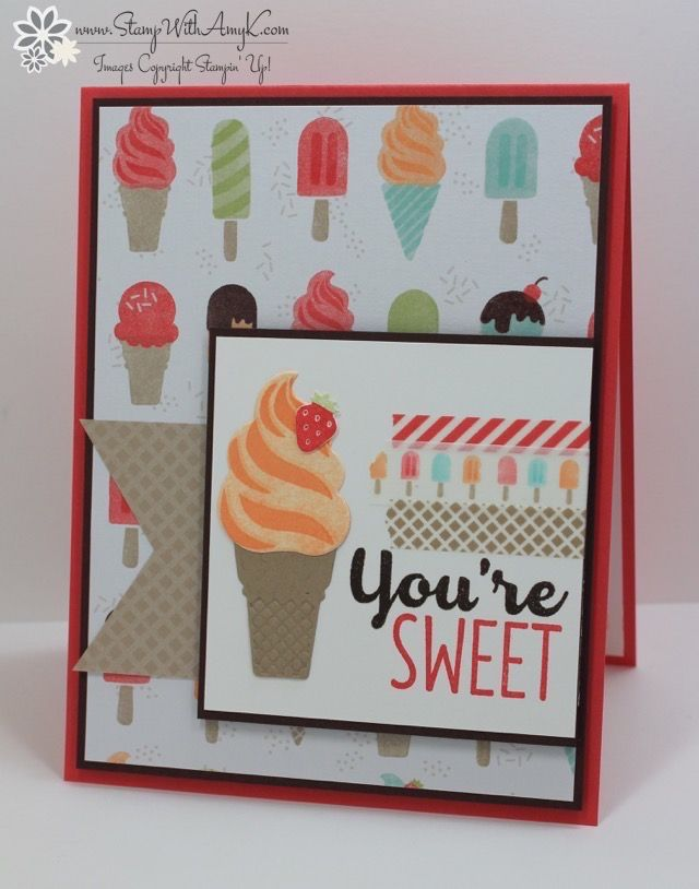 I used the Stampin' Up! Cool Treats stamp set bundle from the upcoming 2017 Occasions Catalog to create my card to share today. I'm so exited that the new catalog AND Sale-a-bration bo…