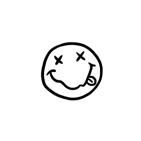 How to Draw Nirvana Smiley Face ❤ liked on Polyvore featuring fillers, backgrounds, drawings, bands, doodle, text, quotes, saying, scribble and phrase