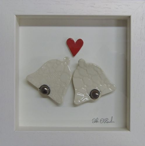 Wedding Bells Ceramic Frame by Stable Door Pottery ♥  Available at: http://www.standun.com/stable-door-pottery-wedding-bells-ceramic-frame.html