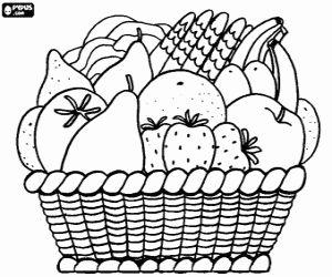 Juegos de Frutas para colorear, imprimir y pintar
