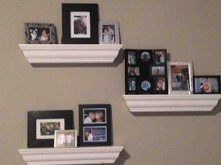 Home Decor: Photo Shelves