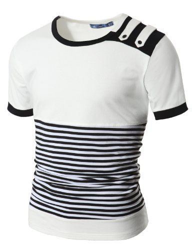 Doublju Mens Stripe T-shirts with Shoulder Strap WHITE (US-M) Doublju http://www.amazon.com/dp/B0044WTU0G/ref=cm_sw_r_pi_dp_aRp1tb0JYHZBPSN5