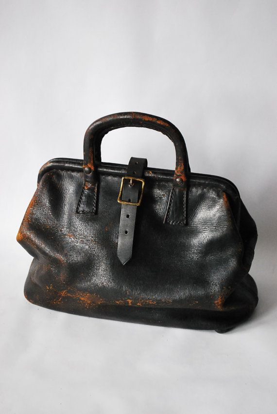Stunning Antique Doctors Satchel by MotherMidnight on Etsy