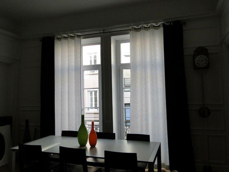 rideaux noir et blanc - Rideaux Pour Salon Noir Blanc