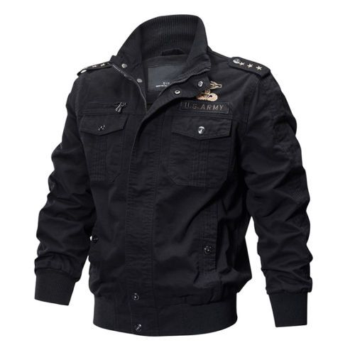 TACVASEN Mens MA-1 Jacket Pilot Military Jacket Coats Air Force US Army Jackets . US $41.99