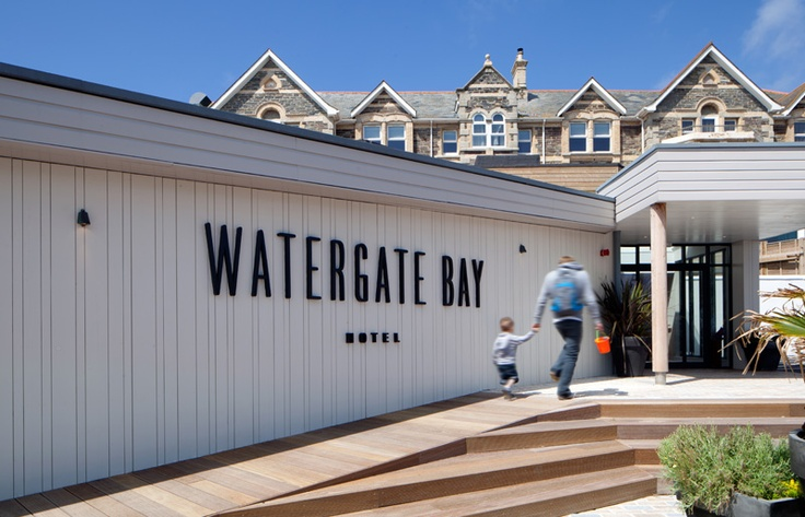 Watergate Bay Hotel, a spectacular beach hotel on the North Cornwall coast..... one of my fav places! Its certainly had a facelift since i last went looks fantastic! #fillyourstocking
