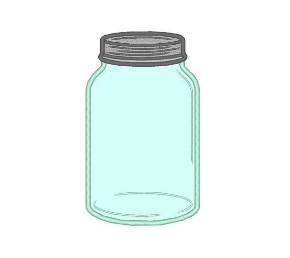 Canning Bottle Mason Jar Applique Machine by OCDEmbroidery on Etsy
