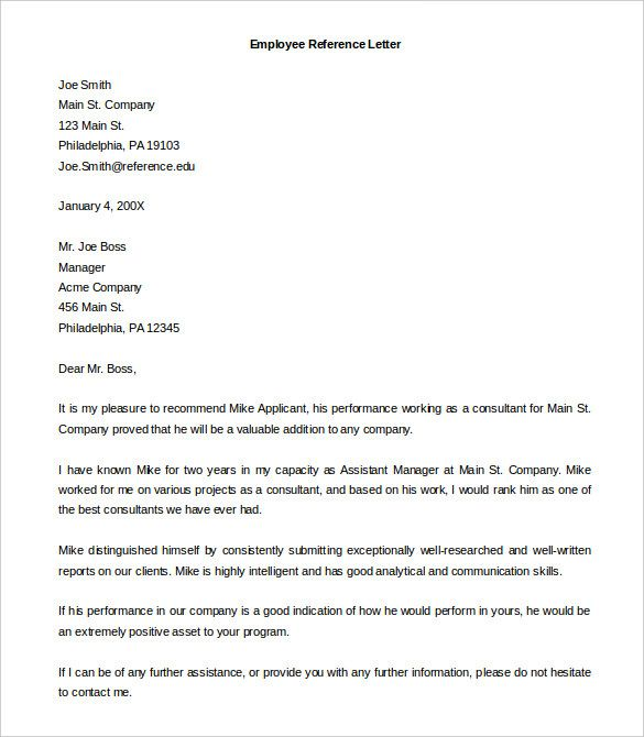 Best 25+ Employee recommendation letter ideas on Pinterest - job reference letter template uk