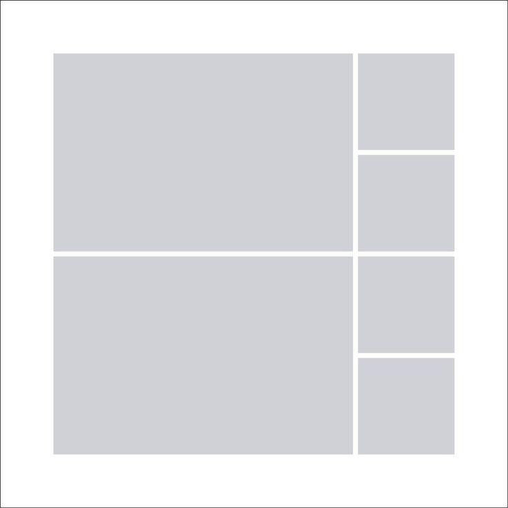 Fotocollage 50x50 | 6 Bilder Quadratisch