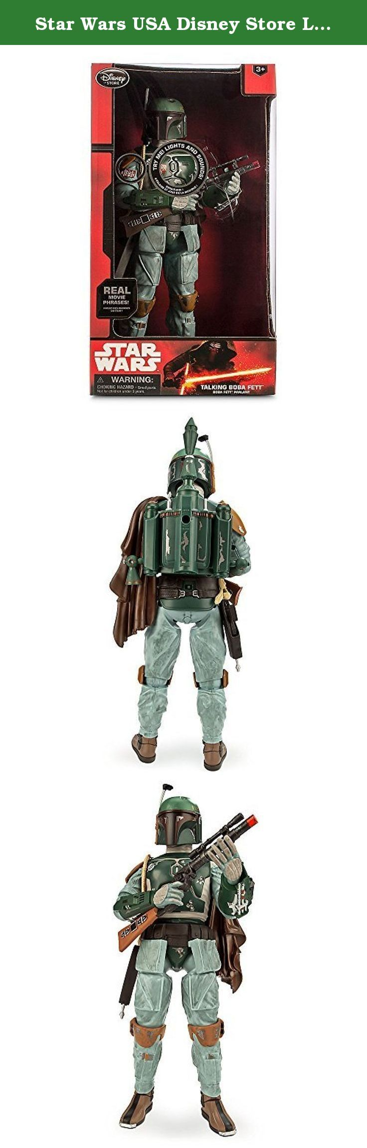 Star Wars USA Disney Store Limited 13.5 inches Talking figure Boba Fett / STAR WARS BOBA FETT. It's shipped off from Japan.