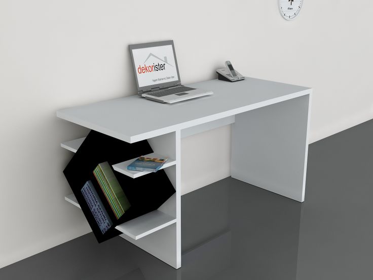 Barok Çalışma Masası Beyaz-Siyah 229,00 TL