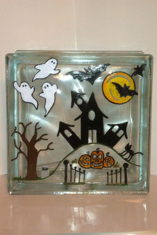 17 best images about glass blocks on pinterest painted for Glass block crafts pictures