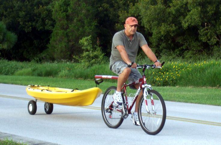 Storing Bikes On Boats: Bicycle Bike Tow Bar, Kayak Trailer, Canoe Trailer