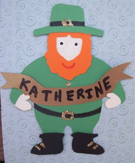 Crack of Dawn Crafts: St. Patrick's Day Leprechaun Name Tag Template
