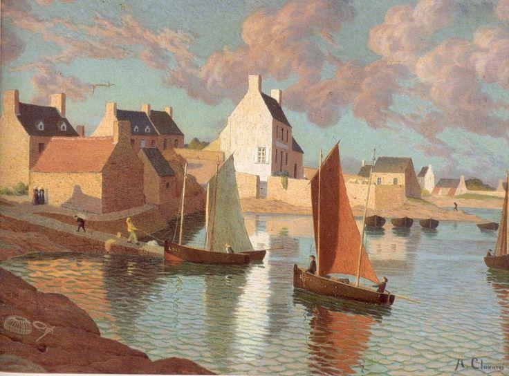 Albert Clouard - Le port de Ploumanach