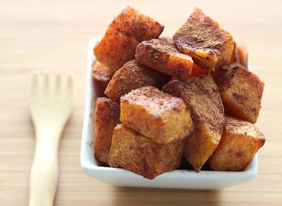 Roasted Butternut Squash with Cinnamon | Healthy recipes | Pinterest